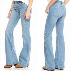 Free People Light Washed Bell Bottoms